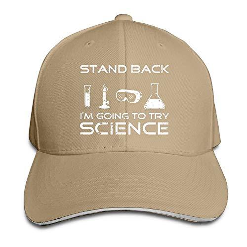 Doormats-shirt Stand Back Science Gorra de béisbol ajustable para papá, sombrero de camionero, sombrero sándwich visera