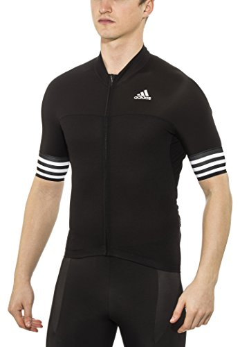 adidas Herren Trikot Adistar Radtrikot Cycling Jersey (Black/White, M)