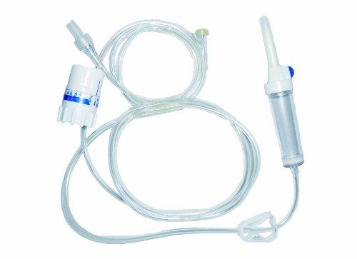 Tiga-Med - Regulador de infusión de precisión con sistema de control de infusión, contador de goteo + dispositivo de infusión con tubo de 180 cm de longitud / 1 unidad
