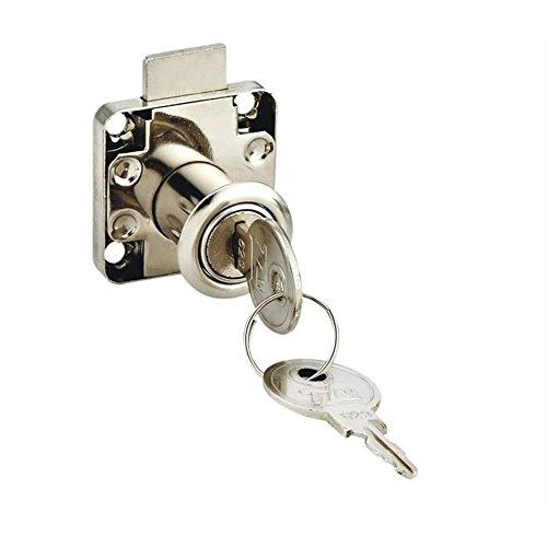Hommy ガラスドアロック 引き出し錠 安全ロック 2鍵付き  直径19mm シルバートーン