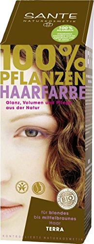 SANTE Naturkosmetik Pflanzen-Haarfarbe Pulver Terra - Braun, Hennapulver, 100g