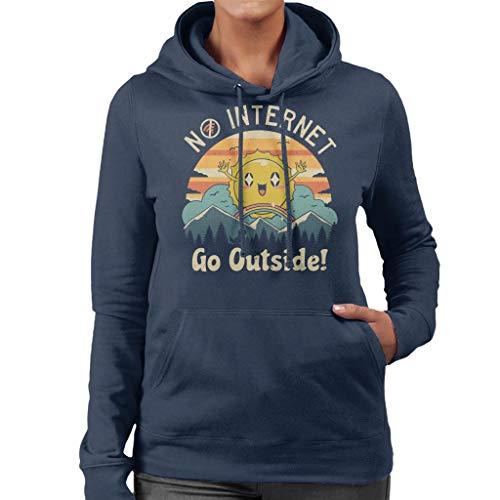 Geen Internet Vibes Sweatshirt met capuchon voor dames.