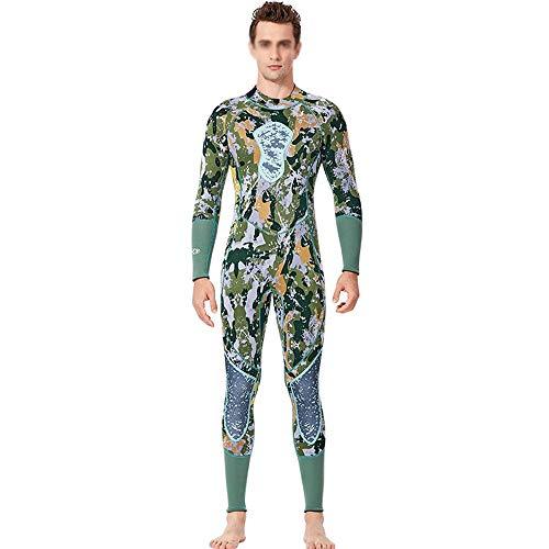 ODDINER Uomini Muta Costume da Bagno Intero da Caccia 3mm da Uomo, Tuta Mimetica da Pesca Muta da Sub Completa (Color : Photo Color, Size : XXL)