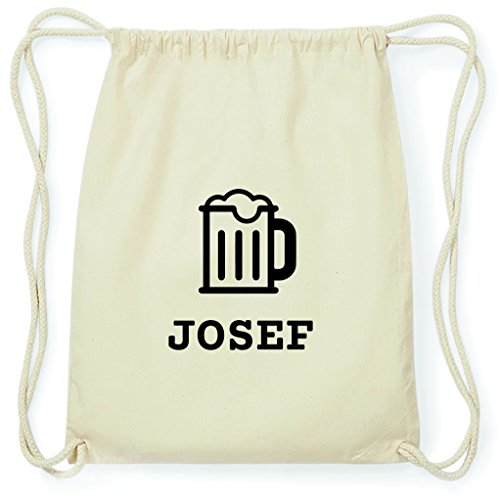 JOllify Turnbeutel - Happy Birthday - für Josef - Bier Gruß