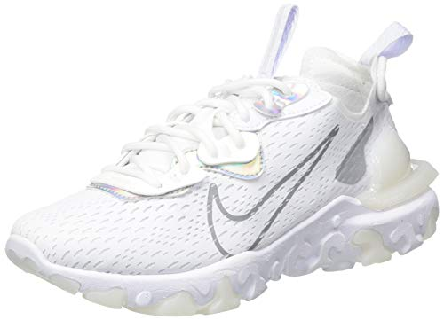 Nike W React Vision Essential, Zapatillas para Correr Mujer, White/White/Particle Grey, 39 EU