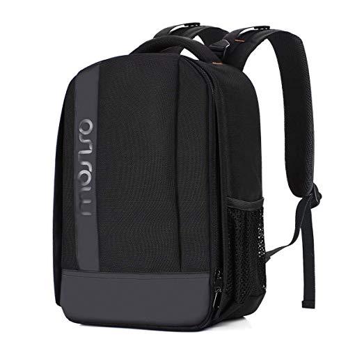 MOSISO Camara Mochila, Bolsa de Amortiguadora Repelente al Agua con Inserciones Modulares Personalizado y Trípode Soporte para Cámaras DSLR/SLR/Mirrorless (Compatible Canon, Nikon, Sony, etc.), Negro