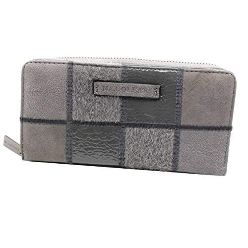 Naj Oleari Portafoglio donna similpelle portamonete porta carte credito borsellino grigio