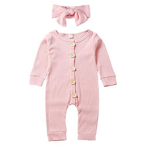 WonderBabe Unisex Baby Neugeborenen Pyjama Strampler Einfarbiger Baumwollpyjama Strampelhöschen