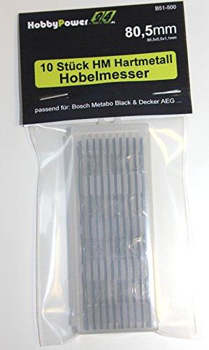 10 Stück HM Hartmetall Hobelmesser 80,5mm für Hobel ELU MFF40, MFF80K, MFF80, MFF81, MFF81K