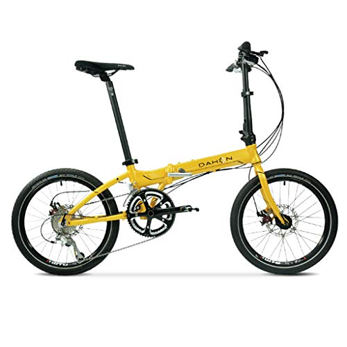 Why Choose Folding Bikes Bicycle Folding Bicycle 20 inch Variable Speed Aluminum Alloy Unisex Ultra Light disc Brake Bicycle (Color : Yellow, Size : 15030108cm)