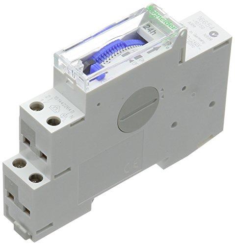 Schneider electric SC5SHN0316654 - Interruptor horario ih clic las 24 horas del día, 1 canal