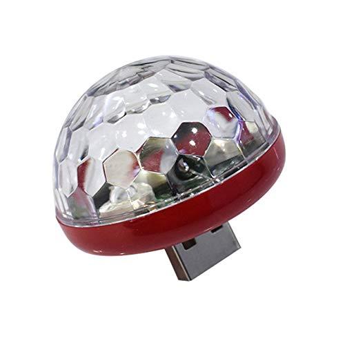 Ba30DEllylelly LED USB Mini Bola mágica de Cristal activada por Voz Led Etapa Bola de Discoteca Proyector Luces de Fiesta Flash Luces de DJ
