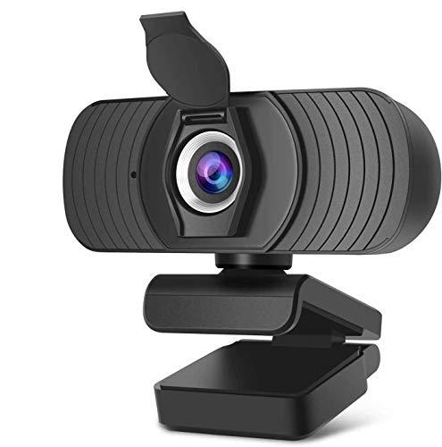 Innosinpo Webcam 1080P�2020 Autofokus Full HD Bussiness Webkamera mit Zwei Digitalen Mikrofonen USB Computerkamera für PC Laptop Desktop Mac Videoanrufe, Konferenzen über Skype YouTube