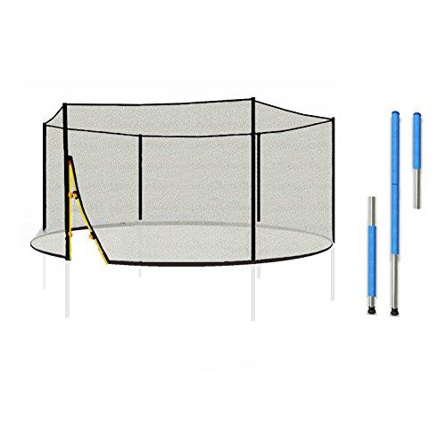 LifeStyle ProAktiv L-F-NP-400 Sicherheitsnetz inkl. Netzstangen & Klammern für Gartentrampolin 400cm 13FT