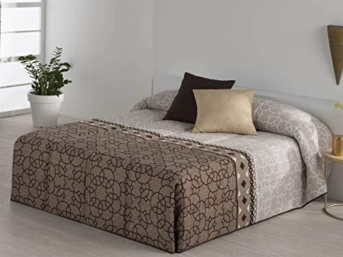 Sansa - Conforter FEZ - Cama 135 cm - Color Marrón