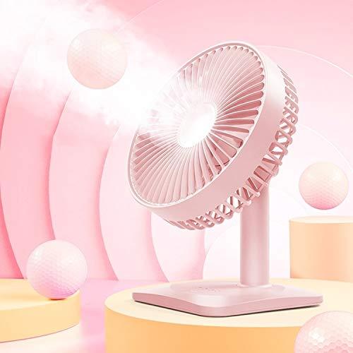 GGAOXINGGAO Nuevos fanáticos N11 USB de Carga Ajustable Silencio de Escritorio del Ventilador eléctrico, con Control de Velocidad 3 (Color : Rosado)