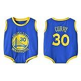 DHRR Mameluco de Baloncesto Stephen Curry 30# Mono de bebé Mono de Verano de Manga Corta Mono de Pijama Infantil
