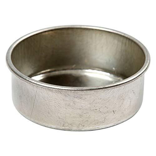 Creativ Company 58019 Teelichthalter, Metall, Edelstahl – Teelichthalter (Tisch, Metall, Edelstahl, rund, 440 mm, 440 mm)