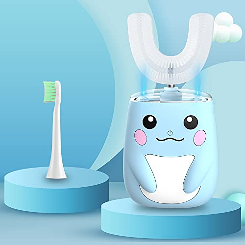 RZM Kids Automatic Sonic Toothbrush- an Ergonomic U-Shaped Toothbrush with six Modes for 360° Sensitive Oral Tooth Cleaning (for2-12years)