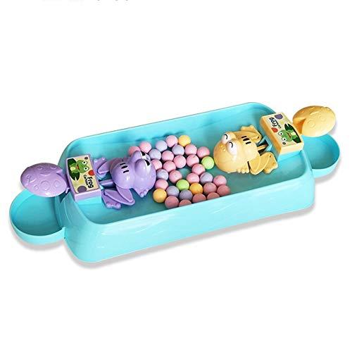 Xyanzi Kleinkindspielzeug Lernspielzeug für Kleinkinder , Fütterung Von Kleinen Fröschen Bohnen Essen Frösche Grabbing Beads Parent für 1-3 Jährige Kinder (Farbe : 100 beans, größe : Two frogs)