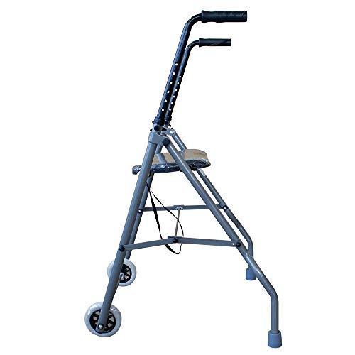 41vPstHTxmL - Andador de aluminio muy ligero, plegable y de fácil uso para adultos