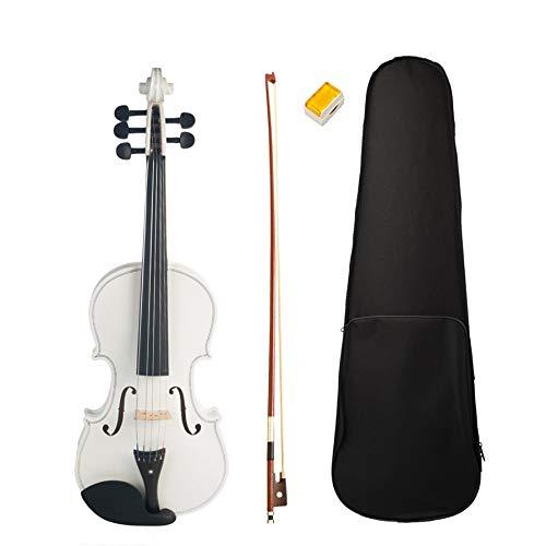 Glossia 4/4 - ?E - Cuerdas para violín (5 cuerdas), color blanco Violín acústico de madera de arce y fresno
