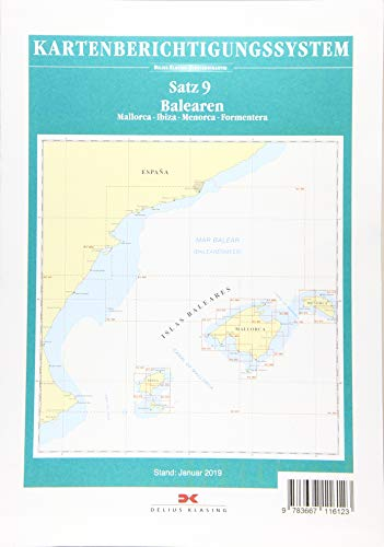 Sportbootkarten-Berichtigung Satz 9 (2019): Balearen: Mallorca - Ibiza - Menorca - Formentera