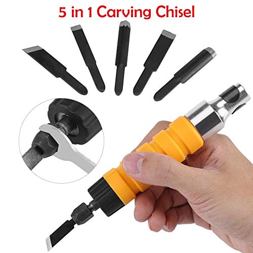 Cincel eléctrico BE-TOOL, juego de cinceles de madera para tallar y hacer manualidades