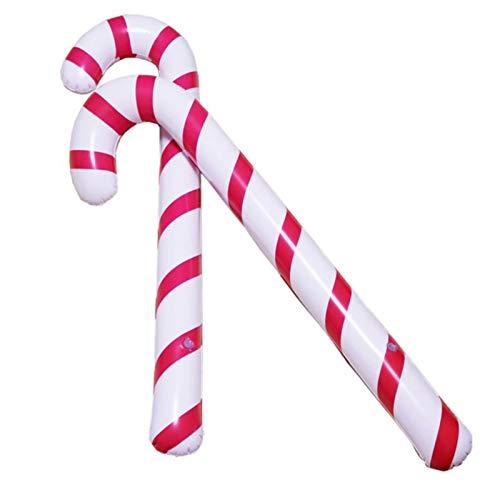 Aufblasbar Weihnachten Zuckerstange Aufblasbarer Zuckerstange, Spazierstock Wanderstock Weihnachten Zuckerstange Krücke Weihnachtsfeier Dekoration Kostümzubehör