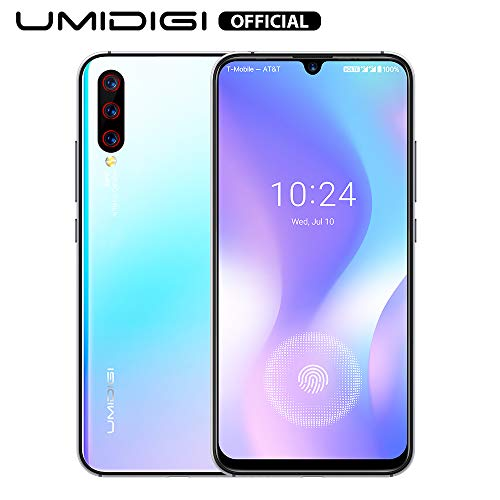 UMIDIGI X Smartphone ohne vertrag günstig mit Fingerabdrucksensor im Bildschirm, NFC, 4150mAh Akku, 128GB Speicher, 6.35'' AMOLED Full Screen, 48MP Ultra Wide AI Triple Kamera - Breathing Crystal