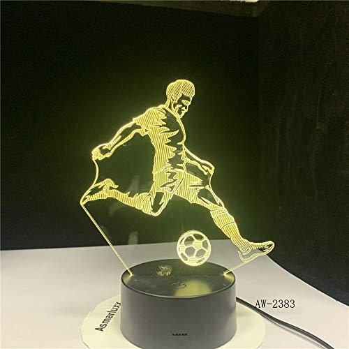 Spielen Sie Touch-Taste Home Decor Athlet Nachtlicht Tischlampe Kind Schlafzimmer Nacht Schlaf