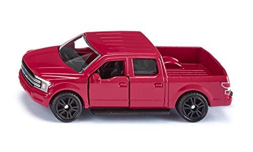 siku 1535, Ford F150, Rot, Metall/Kunststoff, Bereifung aus Gummi, Spielzeugauto für Kinder, Öffenbare Türen