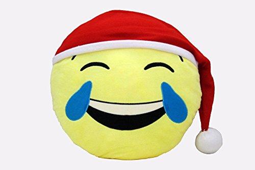 Emoji Holiday Decorative Throw Pillow, Tears of...