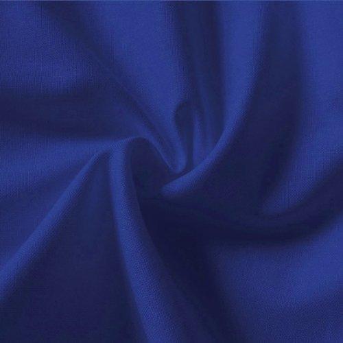 Stoffkontor - Tela (100% algodón, 150 cm por metro), color azul