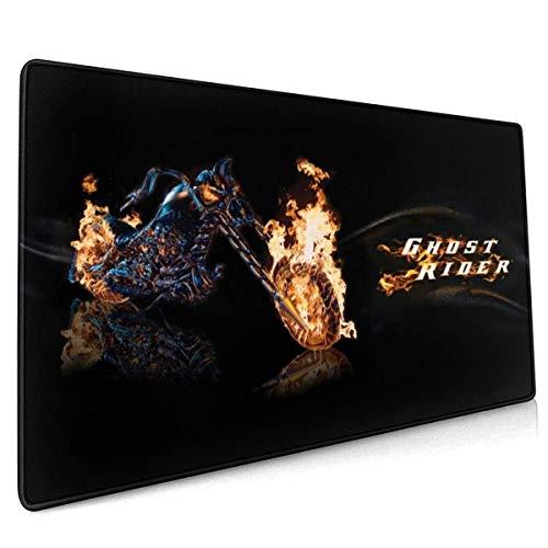 Ghost Rider Spiel Mauspad Schreibtisch Mousepad Schutztastatur Schreibtisch Mausmatte für Computer/Laptop 35