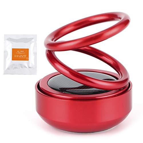 Ambientador universal para automóvil Eliminador de olores giratorio Aromaterapia Aleación de aluminio rojo Difusor de fragancia de doble anillo para exudar fragancia natural para(red)
