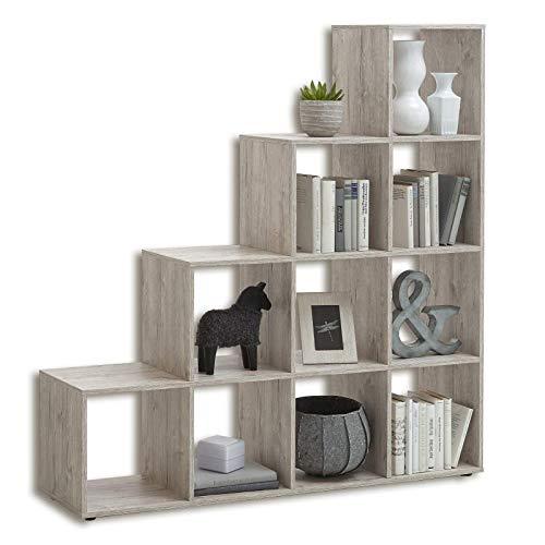 FMD Möbel Mega 2 Raumteiler, Holz, sandeiche, 138.5 x 33 x 143.5 cm