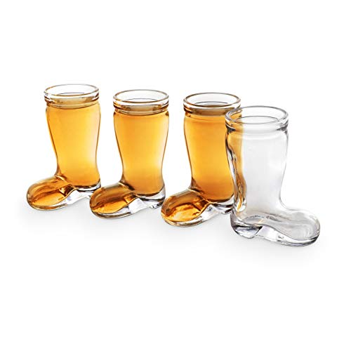 Final Touch GG5004 Das Boot Set Of 4 SHOT GLASSES Novelty In Gift Box by Final Touch
