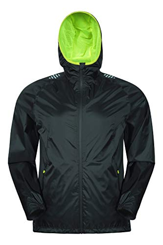 Mountain Warehouse Ultimate Mens Waterproof Jacket - 10,000mm, Breathable Running Rain Coat, Lightweight, Quick Dry Rain Coat - Best for Cycling, Outdoors, Hiking & Walking Negro L