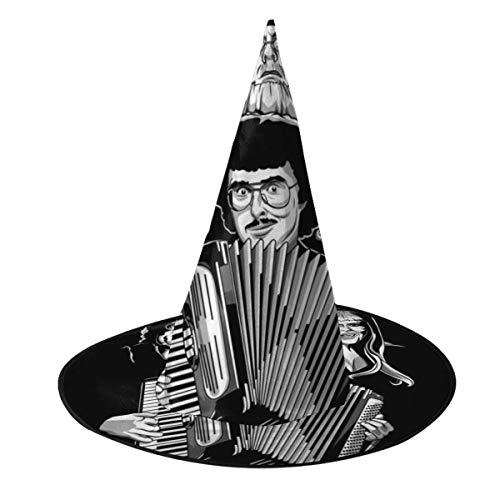 KUKHKU Bohemian Polka Weird Al Hexe Hut Halloween Unisex Kostüm für Urlaub Halloween Weihnachten Karneval Party