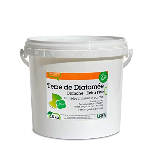 Agro Sens - Terre de diatomée blanche extra pure. Seau 2 kg + 500 g offert