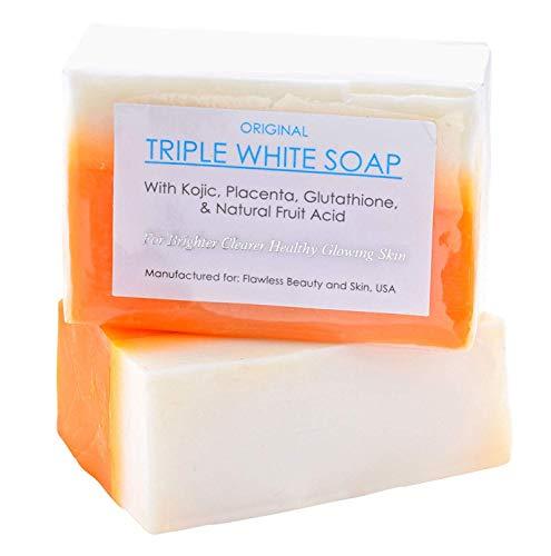 Kojic Acid, Placenta, & Glutathione Triple White Soap Appx. 150gms (1 Soap)