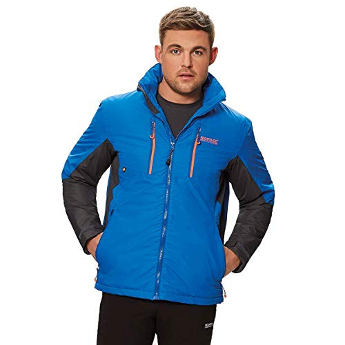 Regatta Herren Fabens II Waterproof and Breathable Thermoguard Insulated Hooded Jacke, Oxford Blue/Seal Grey, S