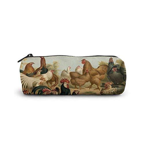 IOPLK Kulturbeutel runde Federmäppchen Kosmetiktasche Federmäppchen Pencil Case/Cosmetic Bag,Tree Leaves Canvas Stationery Stylish Simple Pencil Bag
