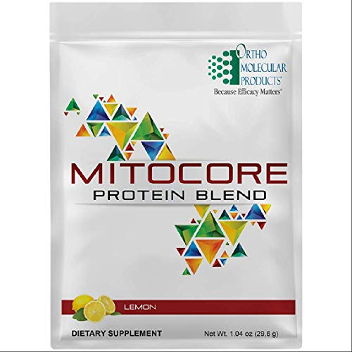Ortho Molecular MitoCORE Protein and nutrients Blend Lemon Box of 14 Pouches (14-1.04 oz (29.6 g))