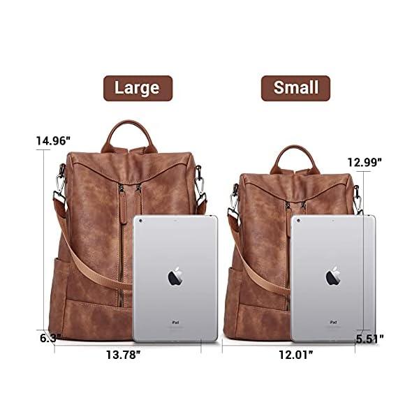 BROMEN Women Backpack Purse Leather Anti-theft Travel Backpack Fashion Shoulder Handbag 10