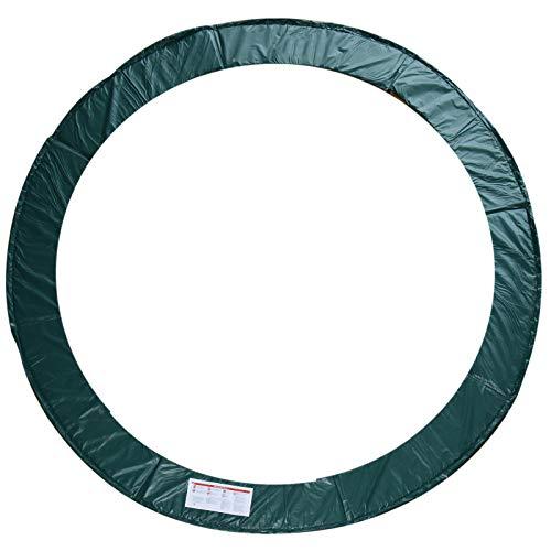 HOMCOM Cubierta de Protección de Ø305 cm Borde para Cama Elástica y Resorte Trampolín Redondo para Exterior Verde
