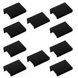 10 x Hinterschraubgriff Blankett Jane 50 mm schwarz Schrankgriffe Möbelgriff Schubladengriffe von Sotech
