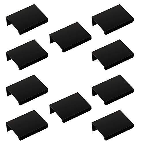 Sotech 10 x uchwyt gwintowany Blankett Jane 50 mm czarny uchwyty szafkowe uchwyty meblowe uchwyty do szuflad