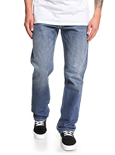 Quiksilver Sequel Medium Blue - Vaquero de Corte Normal para Hombre EQYDP03405